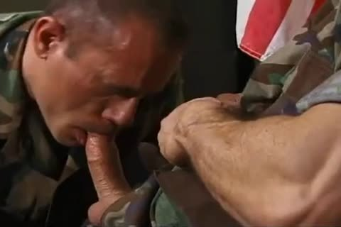 Army stud sucks and bonks old captains ...
